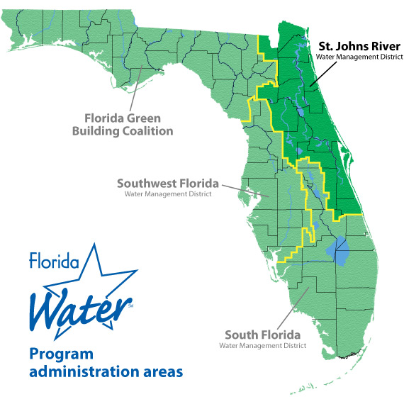 St Johns Florida Map.Florida Water Star Regional Contacts