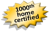 1000th Home Certified